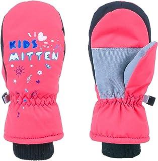 TRIWONDER 儿童滑雪手套冬季连指手套滑雪雪地保暖手套寒冷天气滑雪手套适合儿童男孩女孩幼儿