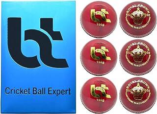 红色 156 克板球,4 个球,6 个装,真皮,卓越品质