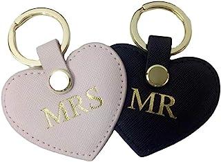 可爱的皮革钥匙扣心形皮革钥匙圈汽车钥匙扣