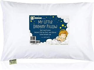 """带枕套的幼儿枕头 - 13X18 柔软*棉婴儿睡觉枕头 - 可机洗 - 幼儿、儿童、婴儿 - 非常适合旅行、幼儿床和床套装 柔和白色 13"""" x 18"""""""