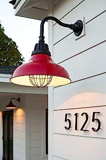 室外 5 英寸(约 12.7 厘米)- 现代浮动安装锌合金黑色铝合金编号带美甲套件,易于安装住住宅邮箱地址号码 (NO.2)