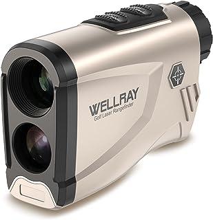 WELLRAY LC600AG 高尔夫测距仪激光测距仪适用于高尔夫斜坡调整和国旗锁定,适用于高尔夫和狩猎,男女皆宜的*佳礼物