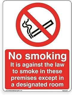 禁止吸烟,禁止法律吸烟 - 标准 [4mm 薄板,300mm x 400mm - A3]