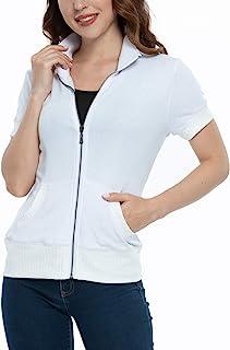 女士亮片宽松 Disco 上衣,金属俱乐部闪光派对短袖衬衫,轻便