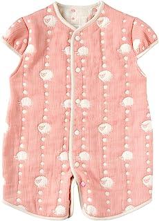 Hoppetta 两用 6重薄纱 睡衣 带袖 サーモンピンク