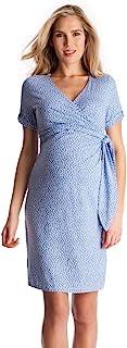 Seraphine 产后 孕妇连衣裙 Renata SS 短袖圆点 莫代尔束腰孕妇连衣裙 ブルースポット 6