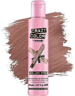 Crazy Color *剂 - 纯素和无残忍的半永久*剂 - 用于预亮或金发的临时* - 无需过氧化物或显影剂(玫瑰金)