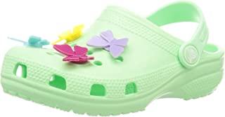 crocs 卡骆驰 男女通用儿童经典蝴蝶吊饰印花洞洞鞋 |女童凉鞋 |休闲便鞋