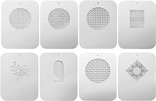 Andoer 6 件 Gobos 图形卡 带空心图案 适用于光学鼻孔 锥形对焦 电容艺术 特殊效果 形状光束 摄影灯配件 (8PCS)