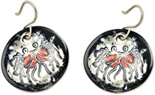 FSM 飞行的细带怪物陶瓷耳环 - 直径 3.18 cm