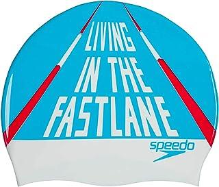 Speedo 速比涛 泳帽 硅胶 印花 泳帽 游泳 SE11920