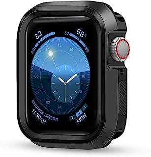 手机壳兼容 Apple Watch 系列 4,防震保护硅胶防撞 TPU 保护壳,适用于 Apple Watch 系列 4 42 mm Jet Black Bumper