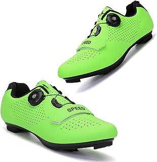Etaclover 女式室内自行车运动鞋,兼容 SPD/SPD-SL 防滑钉,用于锁定踏板自行车鞋