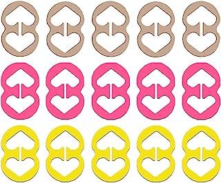 文胸带夹,15 个文胸夹,女式粉色,黄色,白色,适合全罩杯