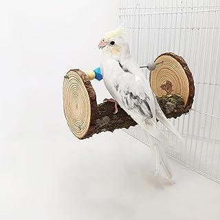鸟栖息地支架玩具或笼子,天然木鹦鹉拼图咀嚼玩具,适用于鹦鹉鹦鹉鹦鹉锥体翅膀爱鸟金刚鹦鹉,鸟笼游戏健身房训练玩具站磨爪攀岩树枝