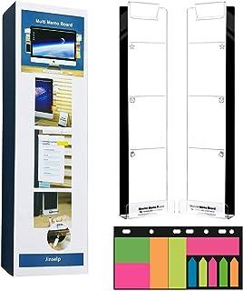 Monitor Sticky Notes支架、桌面屏幕留言板、显示器备忘录板、便利贴架、亚克力板备忘录垫、便利贴、书桌记事本、透明便签板、手机支架。