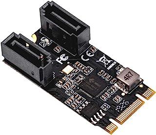 IO CREST M.2 B+M Key to SATA III 2 端口扩展卡 Jmicro JMB582 芯片组,将两个 SATA 3.0 设备添加到任何 M.2 2242 插槽 SI-ADA40149