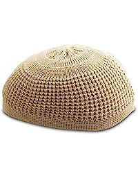 Muslim 书签纯色弹性骷髅帽 Kufi 帽子