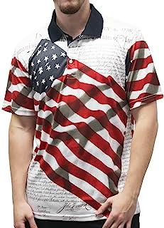 男式星条旗 Polo T 恤