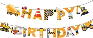 Construction Happy Birthday 横幅建筑派对装饰建筑派对用品装饰套装 适合生日派对、婴儿秀