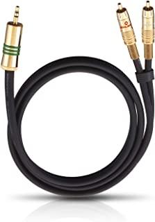 OEHLBACH Y 适配器 3,50mm 插孔到 2 个 RCA 插头。 颜色:黑色。 星数等级:3。