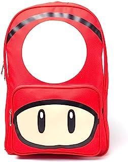 任天堂*马里奥兄弟蘑菇印花背包休闲背包,28厘米,20L,红色