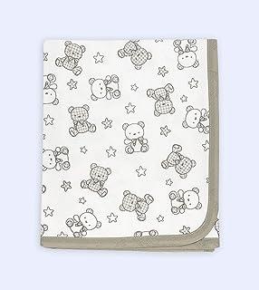 Ti TIN - 柔软吸水婴儿毯,80 x 80厘米   襁褓毯或幼儿毯,* 纯棉 - 双层面料,多功能婴儿毯,适用于汽车、摇篮、婴儿车等。设计: