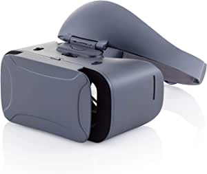 Elecom 宜丽客 VR眼镜 头戴式VR设备套装 [对焦调节 瞳距调节] 可佩戴眼镜使用 硬式头带 灰色 VRG-XSB01GE