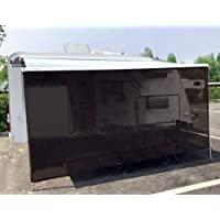 Tentproinc RV 遮阳篷遮阳罩 15.24 厘米 X 25.4 厘米棕色网眼遮阳伞防紫外线遮阳篷完整套件落地房…