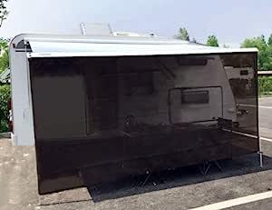Tentproinc RV 遮阳篷遮阳罩 15.24 厘米 X 25.4 厘米棕色网眼遮阳伞防紫外线遮阳篷完整套件落地房车露营拖车篷篷遮篷 - 3 年有限保修