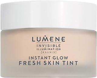 Lumene 隐形照明 [Kaunis] 即时发光清新肌肤色彩,通用深色,1.0 液体盎司,有色保湿,清新凝胶质地