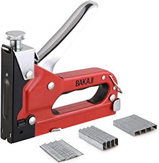 BAKAJI 8057711883103,订书机,练习性能65 分钟,可调节,500 个笔尖和钉子 14 毫米,钢制,专业工作和手工制作。