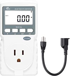 Poniie PN2000 插入式 Kilowatt 电力使用监测器 电功耗瓦计测试仪 带延长线