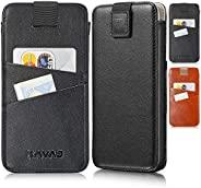 KAVAJ 手机壳兼容苹果 iPhone 12 Pro Max 6.7 英寸皮革 - 迈阿密 - 黑色钱包保护套带卡夹