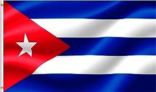 Eugenys 古巴国旗 3x5 英尺 – 古巴国旗涤纶 – 明亮鲜艳的色彩,双缝线耐用黄铜索环 – 完美的古巴国旗适合室内/室外