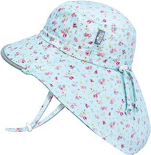 JAN & JUL GRO-with-Me 棉质探险帽   50+ UPF 可调节幼儿太阳帽,适合婴儿和儿童