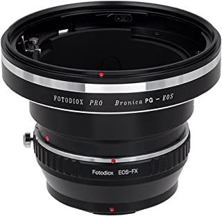 Fotodiox Pro 镜头安装适配器,Bronica GS-1 (PG)安装镜头到富士 X 系列无反光相机适配器 - 适合 X-Mount 相机主体,如 X-Pro1、X-E1、X-M1、X-A1、X-E2、X-T1