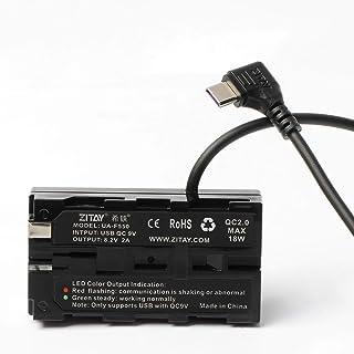 ZITAY NP-F550 假电池至 Type C USB 电池适配器,F550/F970/F750 假电池,相机电源线