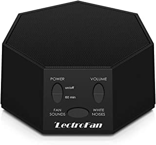 Adaptive Sound Technologies LectroFan 高保真白噪音发声机,具有20种独特的非环形风扇和白噪声声音以及睡觉定时器