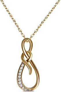Royal Jewelz 1/12 克拉钻石吊坠,10k 黄金。