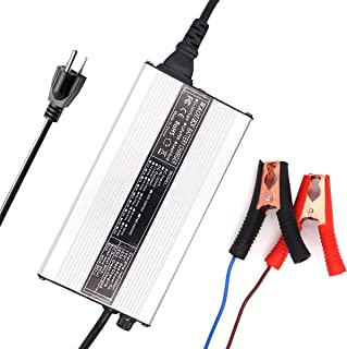 12V 20A 充电器 14.6V 20A LiFePO4 电池充电器 用于4S 12V 12.8V LiFePO4 电池带鳄鱼夹