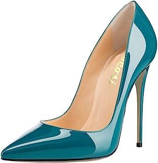 COLETER 女士性感尖头高跟鞋,*皮革高跟鞋,婚纱鞋,可爱的晚宴细高跟鞋