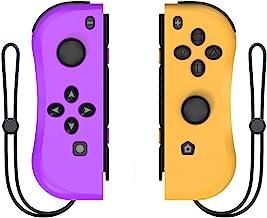 KINVOCA Joy Pad控制器适用于Nintendo Switch,L/R开关控制器更换,有线/无线开关遥控器 - 紫色和橙色