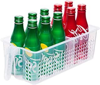 手柄冰箱储物箱,整理和存储,收纳箱,厨房食品柜,冰箱或冷冻柜带手柄的食品储存箱,冰箱组织 - 小号
