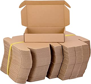 9 x 6 x 2 英寸(约 22.9 x 15.2 x 5.1 厘米)小型运输箱 50 个,可回收瓦楞纸板邮寄箱