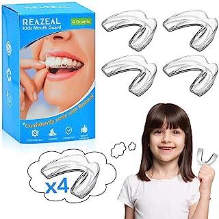 Reazeal 儿童磨牙护齿套,运动护齿套,白色,护齿齿套,夜间护具,可塑型牙套,专业磨牙护齿套