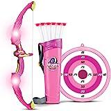 Liberty Imports 发光箭弓箭玩具套装,女孩用 6 个吸盘箭,目标和箭手