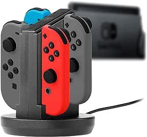 snakebyte 4 合 1 充电底座用于充电 Nintendo Switch Joy-Cons - 包括 LED 充电状态显示