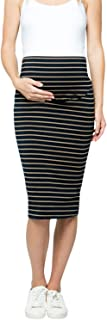 My Bump 女式舒适弹力高腰收腹中长款孕妇铅笔裙美国制造