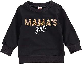 幼儿男婴运动衫妈妈的女孩套头上衣 T 恤针织长袖休闲外套